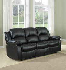 permalink to new case andrea milano black bonded leather sectional sofa with single recliner