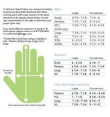 Golf Glove Hand Size Chart Golf Glove Sizing Images Gloves And Descriptions