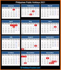 philippines public holidays 2021
