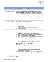 Concierge Job Description Resume Nmdnconference Com Example