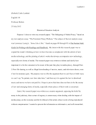 research paper rhetorical situation