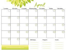 Monthly Calendar 2013 Free Printable Monthly Calendar April 2013