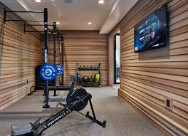 home gym lighting. basement gym home contemporary with wall mounted tv open recessed lighting kits y