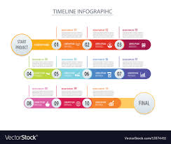Timeline Photo Template Infographic Timeline Template Business Concept