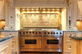 custom kitchen backsplash tiles traditional kitchen with a custom tile mural kitchen cabinets for
