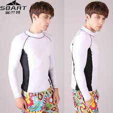 <b>SBART</b> Lycra Surf <b>Rashguard Men Top</b> Sharkskin Waterproof Long ...
