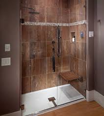 attractive walk in shower enclosures with seat clocks inside plain 7