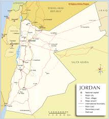 political map of jordan  nations online project