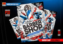 barber flyer barber shop flyer konnekt by andydreamm on deviantart