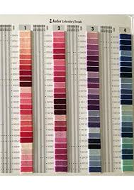 Anchor Floss Colour Chart Yd Designs Neelam Shade Card Telephone Embroidery Yarns Rayon 2 X 22 X 31 Cms Pack Of 480