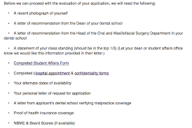 letter of recommendation for dental school example externship guide accessomfs
