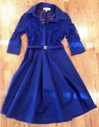 Details About Missmay Retro Gorgeous City Dress Size Medium Royal Blue Upper Lace