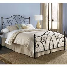 wrought iron bedroom furniture. deland iron headboard brown sparkle finish traditional design wrought bedroom furniture i