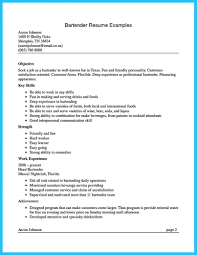 Impress The Recruiters With These Bartender Resume Skills Sample Sp