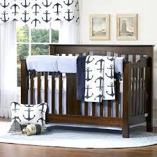 blue crib bedding sets boy nursery themes a project nursery navy blue nautical crib bedding set