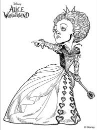 Small Picture Alice Wonderland Tim Burton Coloring Pages Coloring Pages
