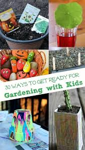 get started with these 30 kid friendly frugal garden activities garden crafts early planting ideas garden science the kids can do before spring