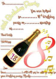 free printable th birthday party invitation pics on 18th birthday invitation