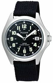 citizen eco drive mens canvas strap watch bv1080 18a pulsar mens black canvas strap watch ps9045x1