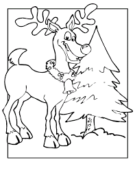 Small Picture Color Page Coloring Pages For Free Reindeer Color Page Coloring