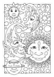 sun moon coloring pages sketch coloring page
