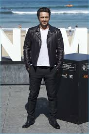 james franco embraces effortless style in a leather jacket by salvatore ferragamo