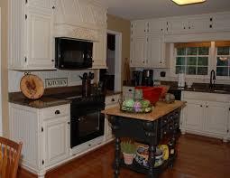 magnificent dark brown wooden butcher block island added white cabinets sets as vintage kitchen decorating ideas
