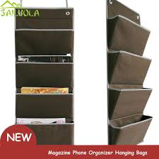 Fabric Magazine Holder New oxford Fabric Bedside Pocket Storage bag hanger rack Magazine 18