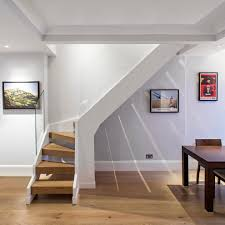 basement stair designs. Awesome Basement Remodeling Ideas With Stair Designs For Small Spaces And Glass Railing Plus Wooden Steps White Ceiling Wood Table Also N