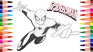 10 wonderful spider man coloring pages your toddler will love : Painting Spiderman For Kids Coloring For Toddlers In Spiderman Coloring Book Youtube
