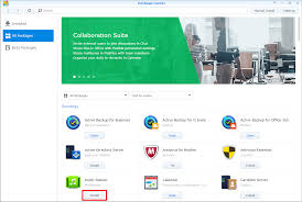 How to install applications with Package Center | Synology Inc.