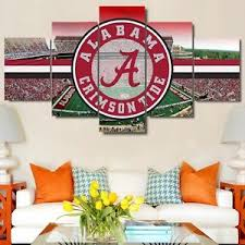 >alabama crimson tide stadium football modern painting canvas wall  image is loading alabama crimson tide stadium football modern painting canvas
