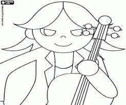 Kleurplaat De Cellist Van Rockmuziek Kleurplaten