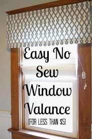 Diy No Sew Curtains Easy Diy No Sew Window Valance Valance Super Easy And Window