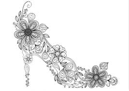 Small Picture Zen High Heel Shoe Coloring Page Adult Coloring Pages