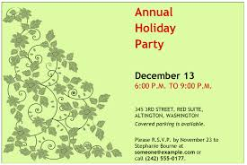 Office Party Invitation Templates Gorgeous Company Holiday Party Invitation Template