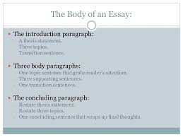 the five paragraph essay ppt video online the body of an essay the introduction paragraph