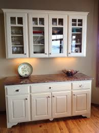 thumb misc traditional style painted raised panel glass grid doors arched toekick feet buffet hutch standard