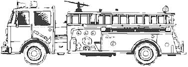 Print & Download - cartoon fire truck coloring pages -