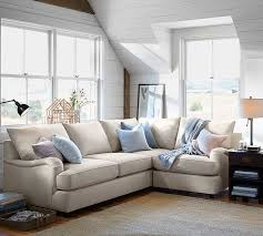 pottery barn sofas and sectionals pb comfort english arm upholstered 3 piece sectional with corner