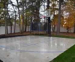 custom outdoor basketball court ton nj deshayes dream