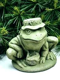 post frog yard ornaments funny garden statue like this item large outdoor statues lawn metal