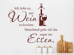 Wandtattoo Ich Liebe Es Mit Wein Zu Kochen Wandtattoocom