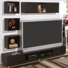 modern wall mount tv stand and floating shelf decor idea on living room design picturejpg