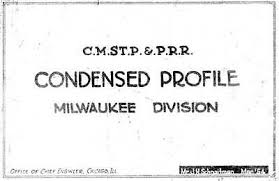 Milwaukee Road Track Charts Milwaukee Road Milwaukee Division Track Chart 1954 Pdf On