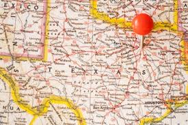 Close Up United States Of America Map And Red Pinpoint Photo