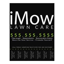 lawncare ad imow lawn care landscaping tearsheet ad flyer zazzle com