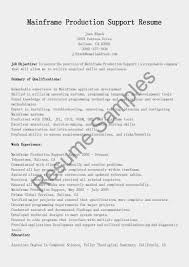 Resume Samples Mainframe Support Sample Oracle Resume Sample Free