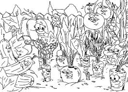 Small Picture Vegetables Garden Coloring Pages Color Luna