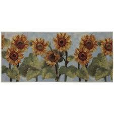 mohawk home summer sunflower kitchen rug from kohls in sunflower kitchen rugs